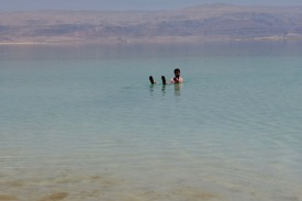 At the Dead Sea - the lowest place on earth